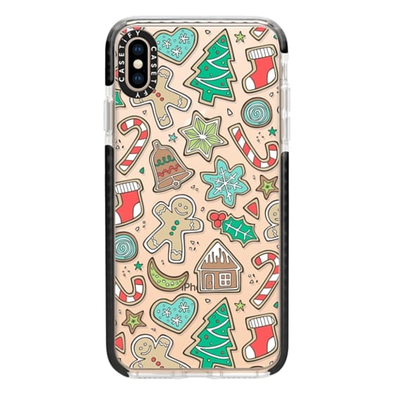 iPhone XS Max Cases - Christmas Xmas Holiday Gingerbread Man Cookies Winter Candy Treats