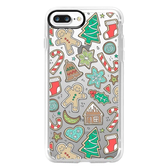 iPhone 7 Plus Cases - Christmas Xmas Holiday Gingerbread Man Cookies Winter Candy Treats