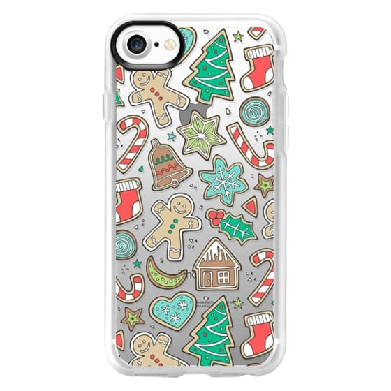 iPhone 7 Cases - Christmas Xmas Holiday Gingerbread Man Cookies Winter Candy Treats