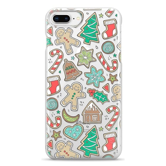iPhone 8 Plus Cases - Christmas Xmas Holiday Gingerbread Man Cookies Winter Candy Treats