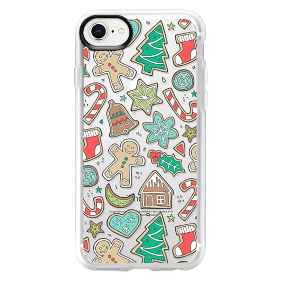 iPhone 8 Cases - Christmas Xmas Holiday Gingerbread Man Cookies Winter Candy Treats