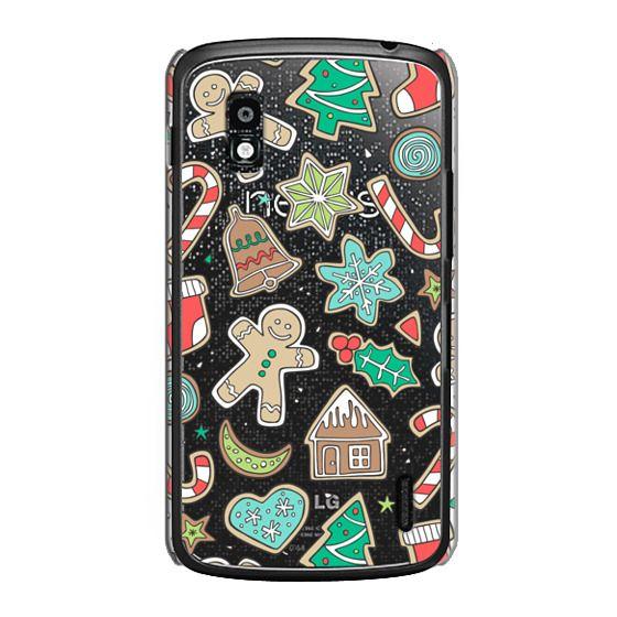 Nexus 4 Cases - Christmas Xmas Holiday Gingerbread Man Cookies Winter Candy Treats
