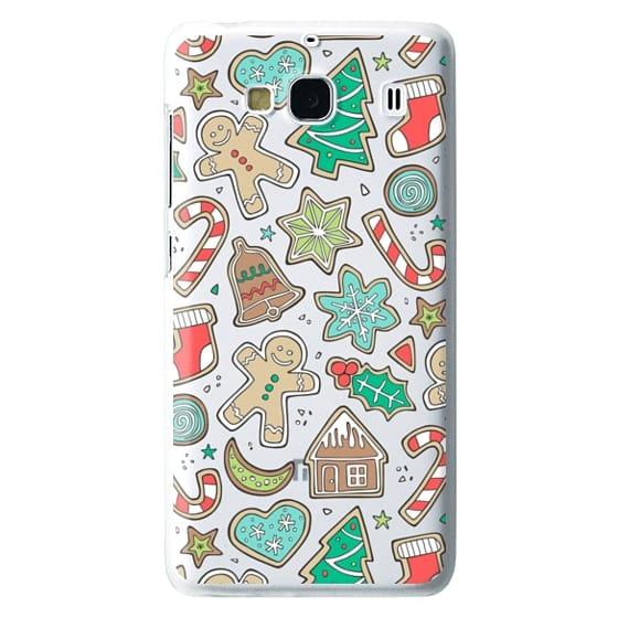 Redmi 2 Cases - Christmas Xmas Holiday Gingerbread Man Cookies Winter Candy Treats