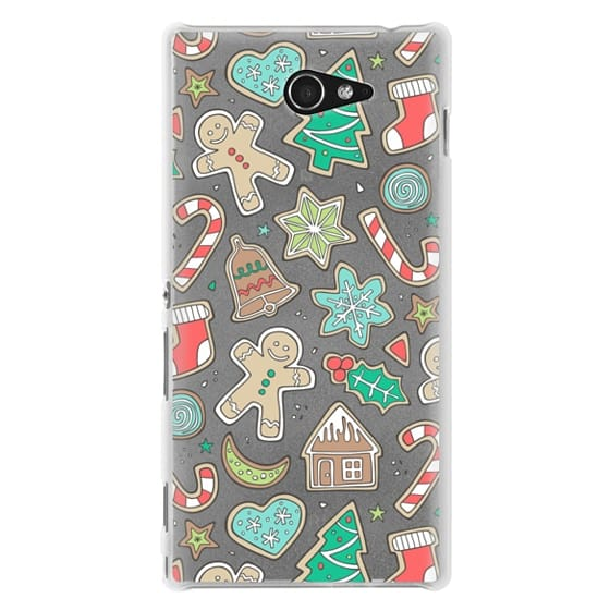 Sony M2 Cases - Christmas Xmas Holiday Gingerbread Man Cookies Winter Candy Treats