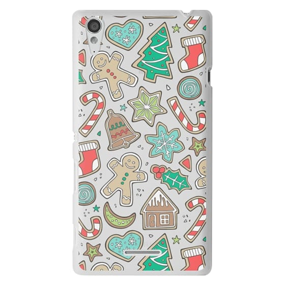 Sony T3 Cases - Christmas Xmas Holiday Gingerbread Man Cookies Winter Candy Treats