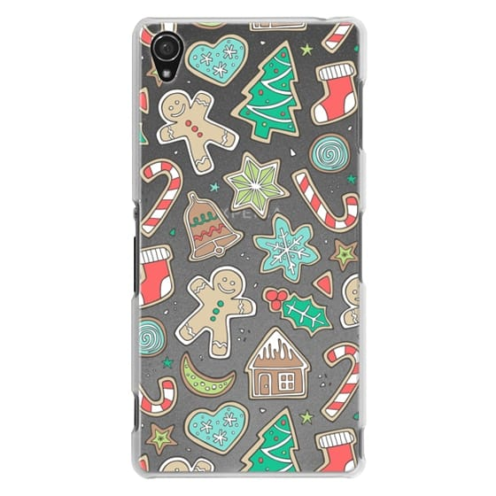Sony Z3 Cases - Christmas Xmas Holiday Gingerbread Man Cookies Winter Candy Treats