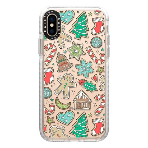 iPhone XS Cases - Christmas Xmas Holiday Gingerbread Man Cookies Winter Candy Treats