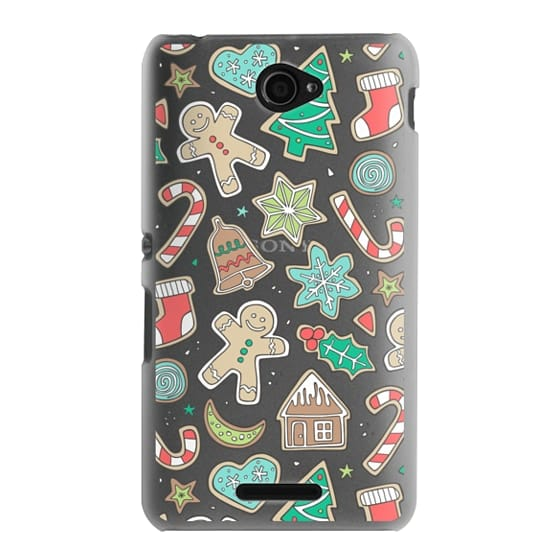 Sony E4 Cases - Christmas Xmas Holiday Gingerbread Man Cookies Winter Candy Treats