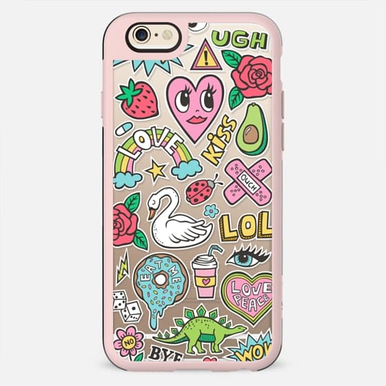 Patches Stickers Love,Hearts,Donut,Swan&Roses - New Standard Case