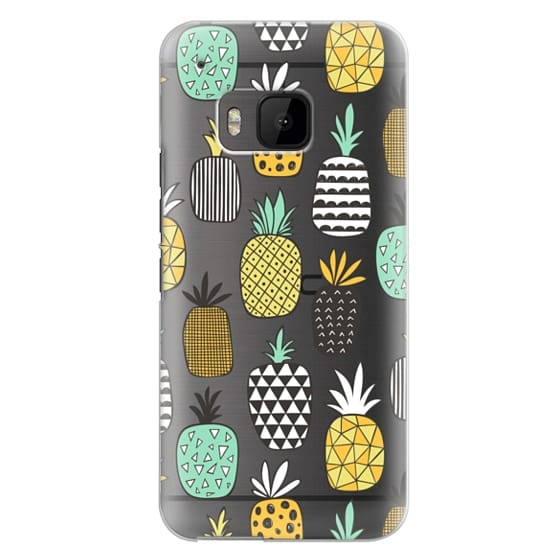 Htc One M9 Cases - Pineapple Geometric Patterned