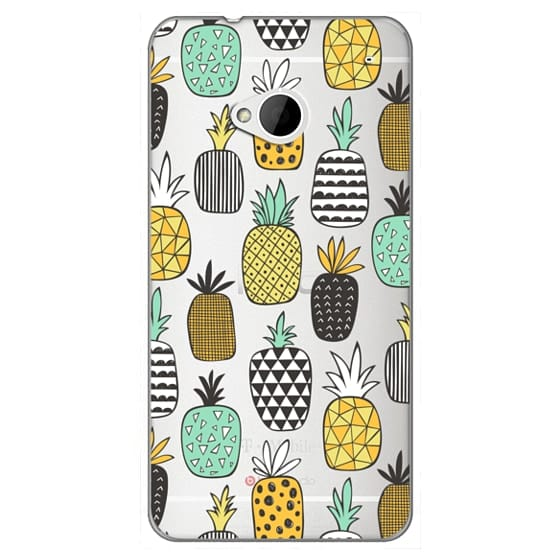 Htc One Cases - Pineapple Geometric Patterned