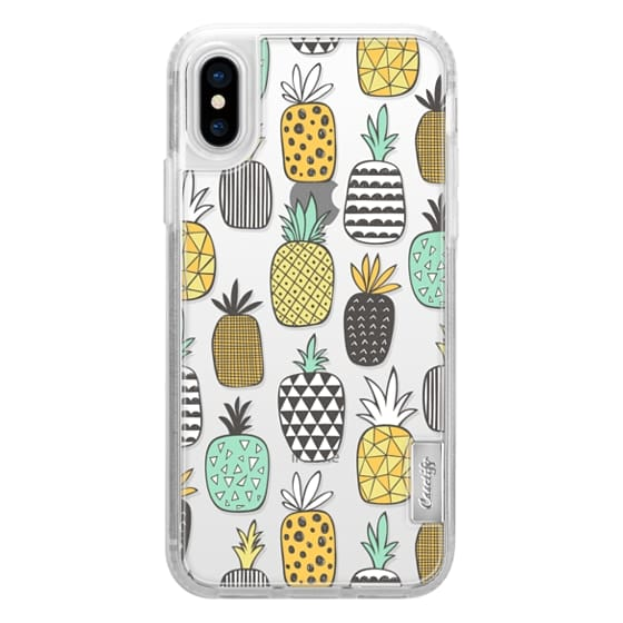 iPhone X Cases - Pineapple Geometric Patterned