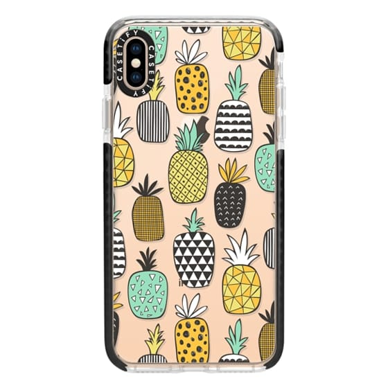 iPhone XS Max Cases - Pineapple Geometric Patterned
