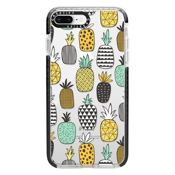 iPhone 8 Plus Cases - Pineapple Geometric Patterned