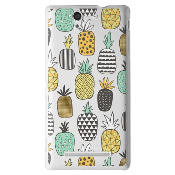 Sony C3 Cases - Pineapple Geometric Patterned