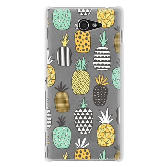 Sony M2 Cases - Pineapple Geometric Patterned