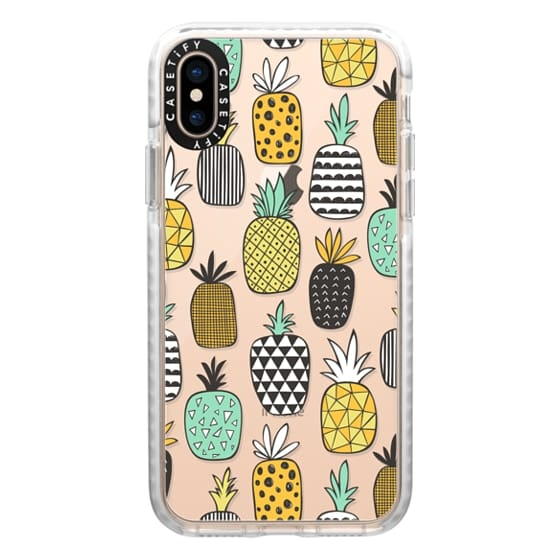 iPhone XS Cases - Pineapple Geometric Patterned