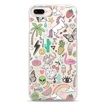 Snap iPhone 8 Plus Case - Summer Time Doodle