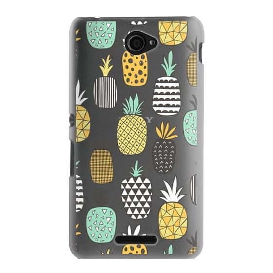 Sony E4 Cases - Pineapple Geometric Patterned