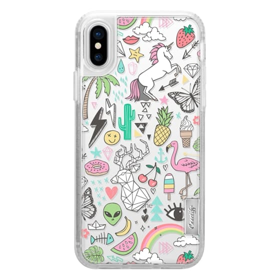 iPhone X Cases - Summer Time Doodle