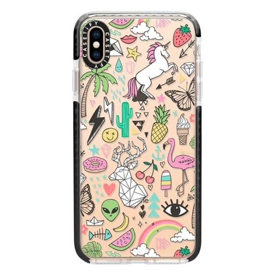 iPhone XS Max Cases - Summer Time Doodle