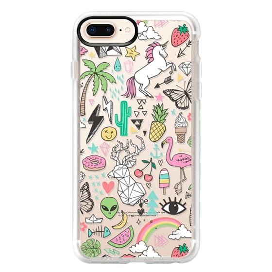 iPhone 8 Plus Cases - Summer Time Doodle