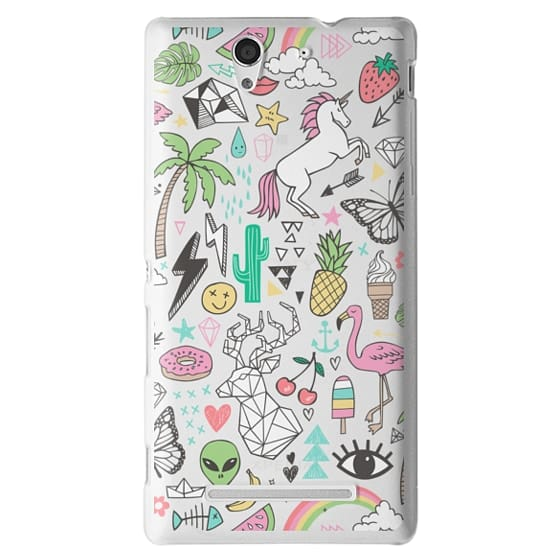 Sony C3 Cases - Summer Time Doodle