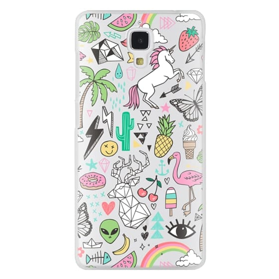 Xiaomi 4 Cases - Summer Time Doodle