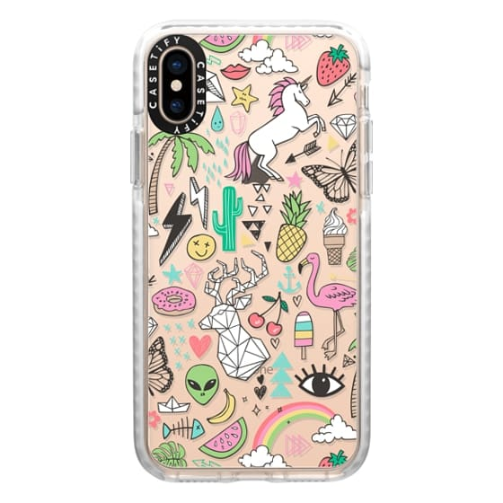 iPhone XS Cases - Summer Time Doodle