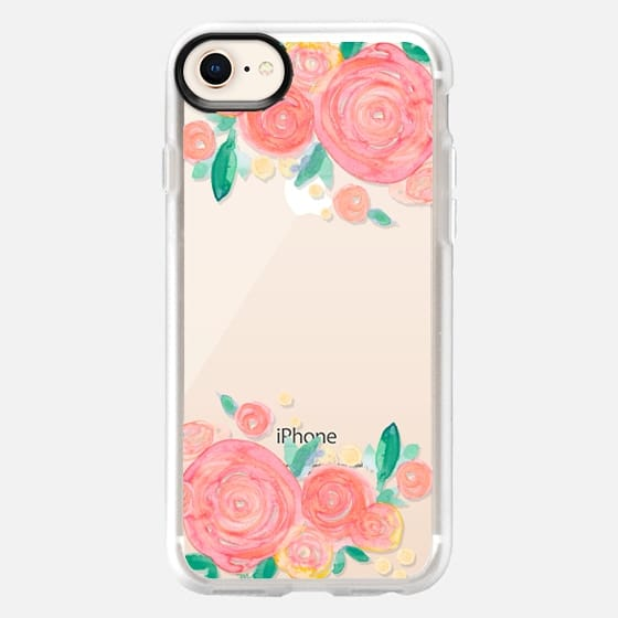 Coral Rose Blooms - Snap Case
