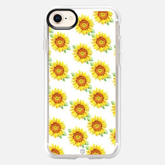 Sunflower Pattern White - Snap Case