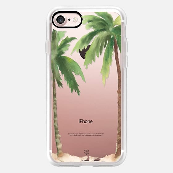 Watercolor Palm Trees - Snap Case