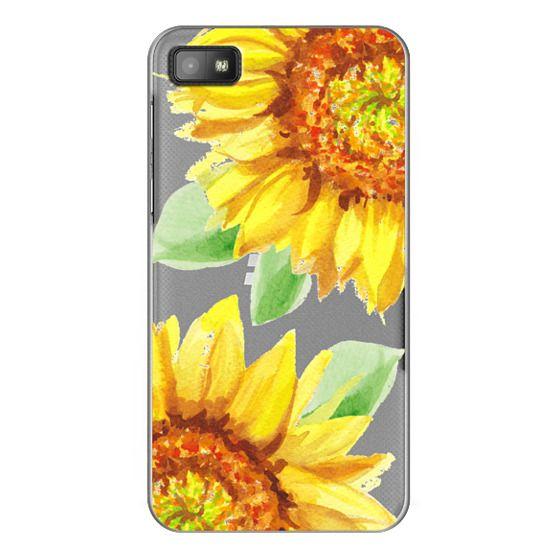 Blackberry Z10 Cases - Watercolor Rustic Sunflowers