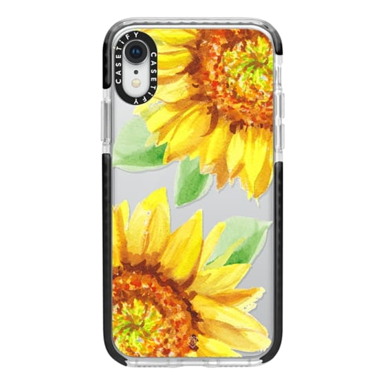 iPhone XR Cases - Watercolor Rustic Sunflowers