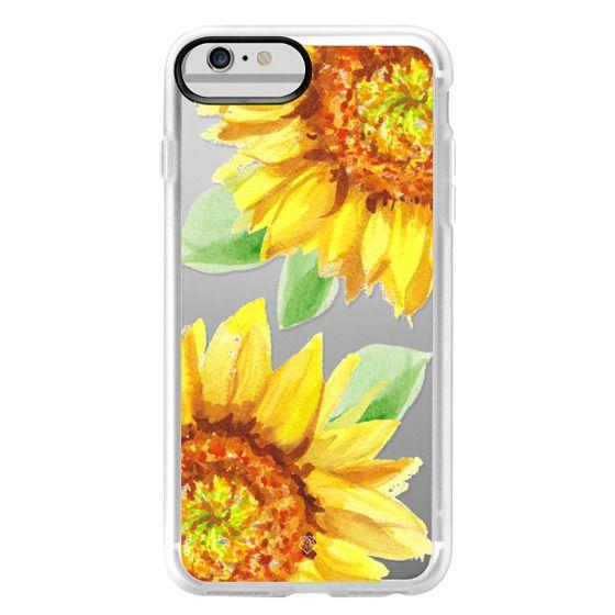 iPhone 6 Plus Cases - Watercolor Rustic Sunflowers