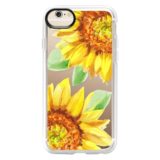 iPhone 6 Cases - Watercolor Rustic Sunflowers