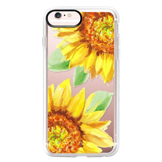 iPhone 6s Plus Cases - Watercolor Rustic Sunflowers