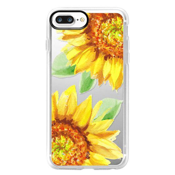 iPhone 7 Plus Cases - Watercolor Rustic Sunflowers