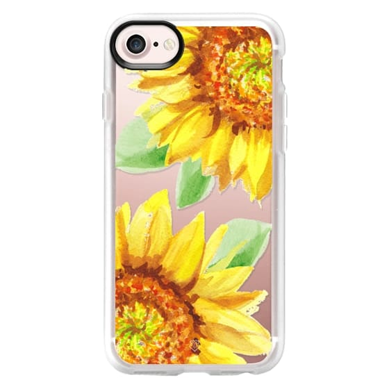 iPhone 4 Cases - Watercolor Rustic Sunflowers