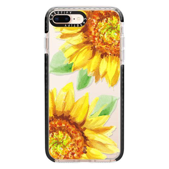 iPhone 8 Plus Cases - Watercolor Rustic Sunflowers