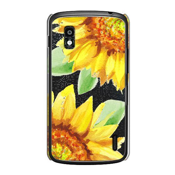 Nexus 4 Cases - Watercolor Rustic Sunflowers
