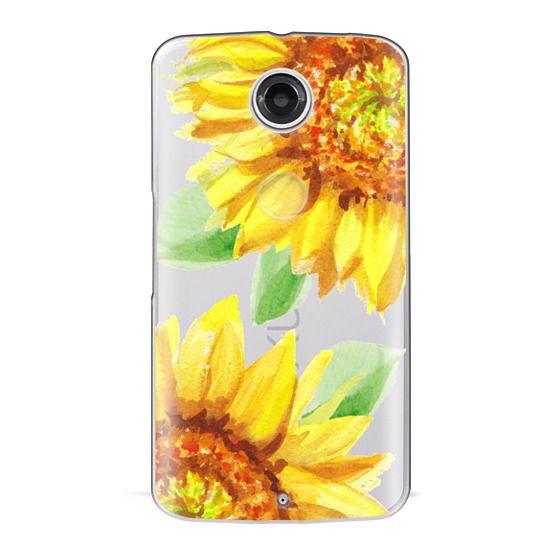 Nexus 6 Cases - Watercolor Rustic Sunflowers