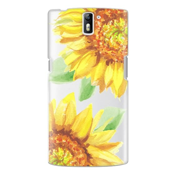 One Plus One Cases - Watercolor Rustic Sunflowers
