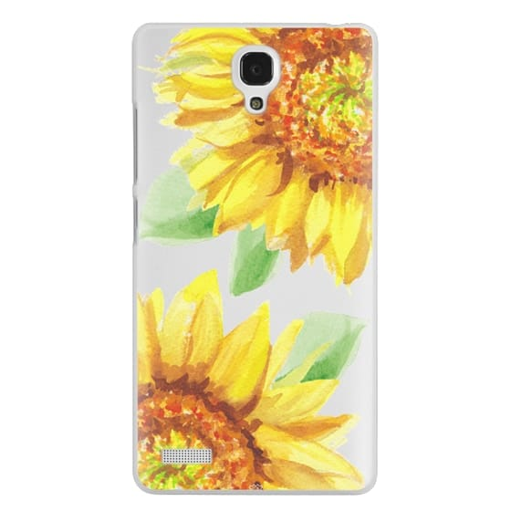 Redmi Note Cases - Watercolor Rustic Sunflowers