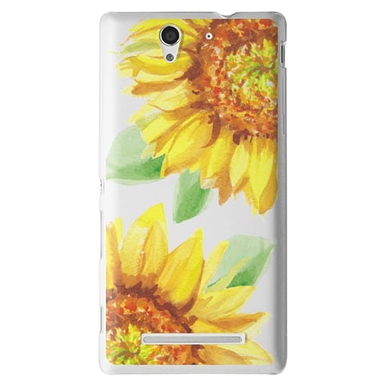 Sony C3 Cases - Watercolor Rustic Sunflowers