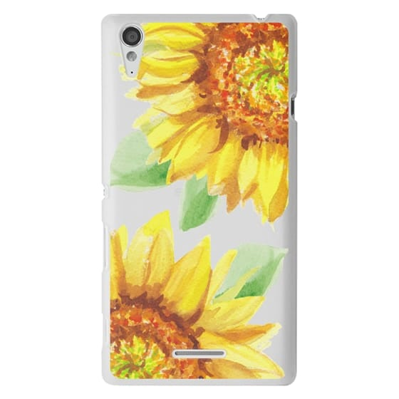 Sony T3 Cases - Watercolor Rustic Sunflowers