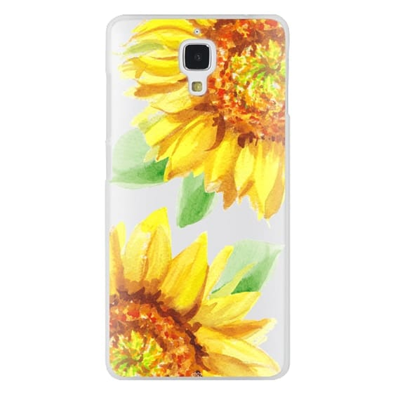 Xiaomi 4 Cases - Watercolor Rustic Sunflowers