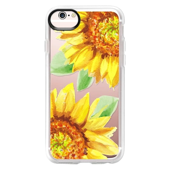 iPhone 6s Cases - Watercolor Rustic Sunflowers