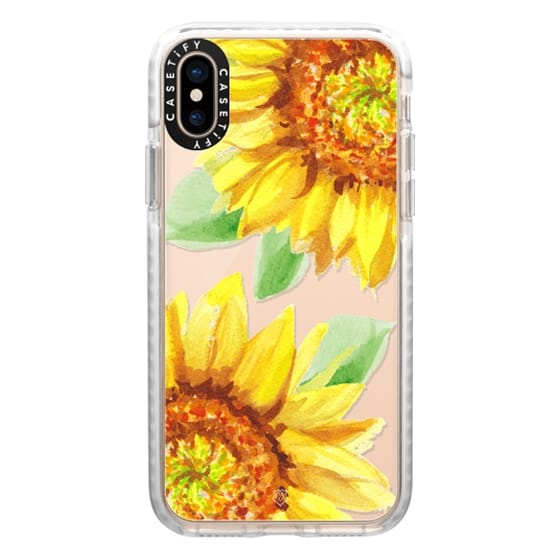 iPhone XS Cases - Watercolor Rustic Sunflowers