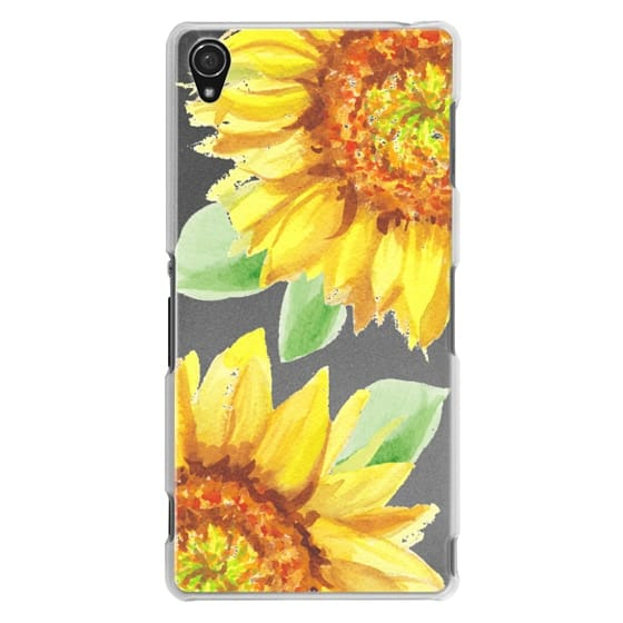 Sony Z3 Cases - Watercolor Rustic Sunflowers